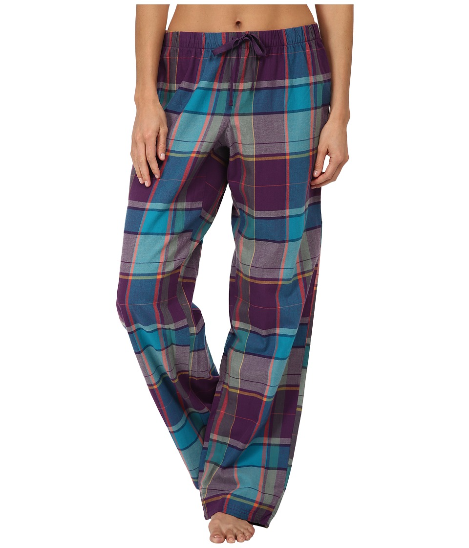 Life is good - Sleep Pants (Smoky Plum Plaid) Women