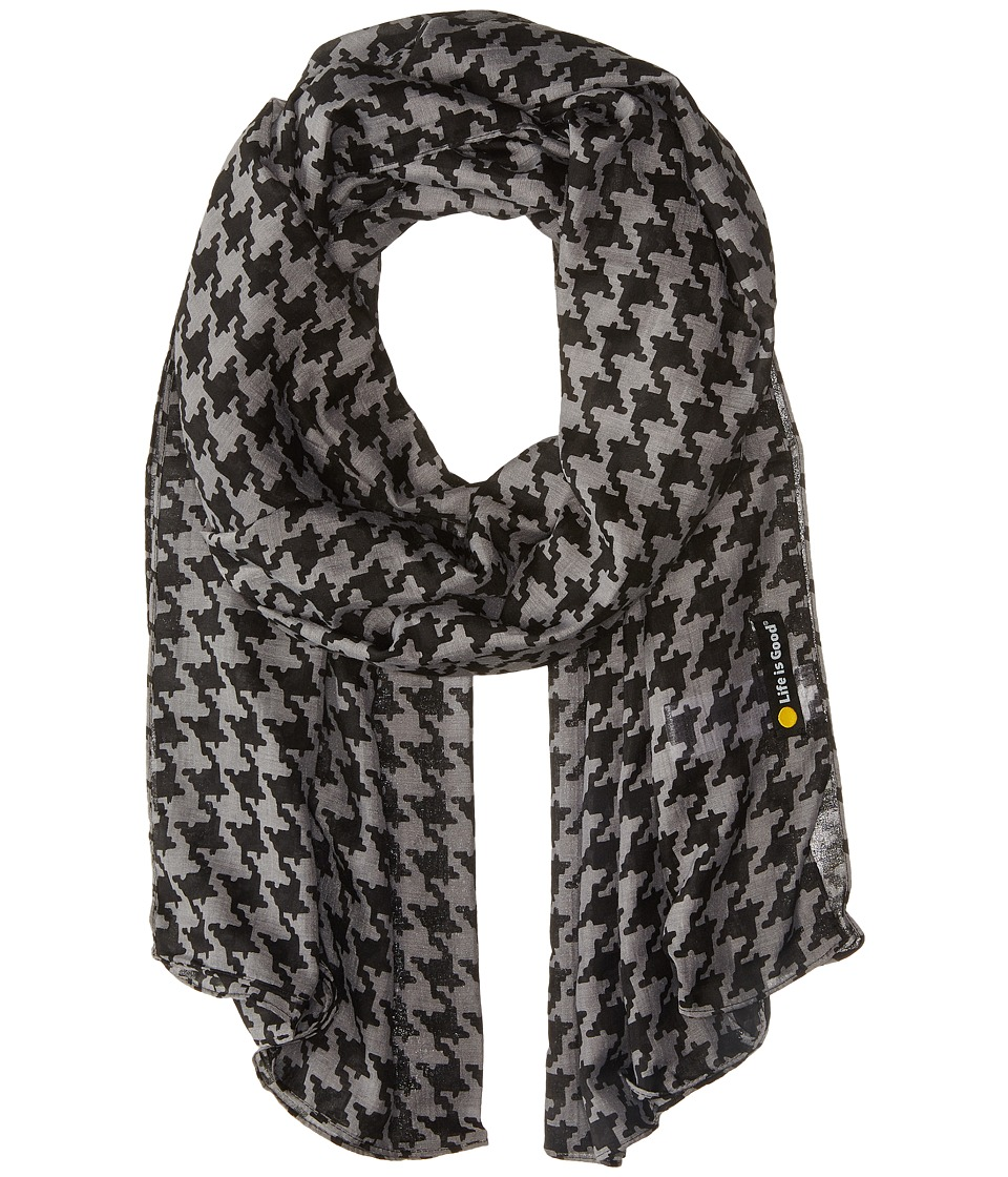 Life is good - Lightweight Scarf (Night Black 3) Scarves