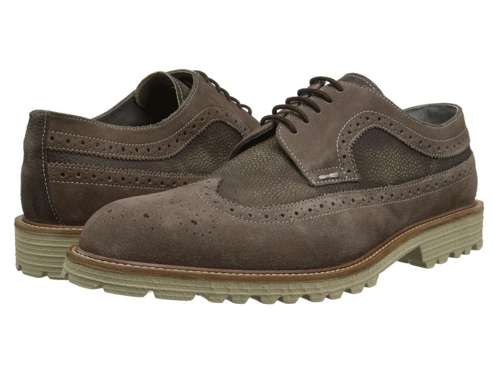 Kenneth Cole New York - Slow N Stead-y (Taupe) Men's Lace Up Wing Tip Shoes