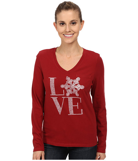 Life is good - Pocket Sleep Vee (Rich Red) Women's T Shirt