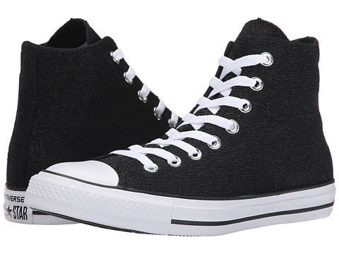 Converse - Chuck Taylor All Star Sparkle Knit Hi (Black/White/Black) Women