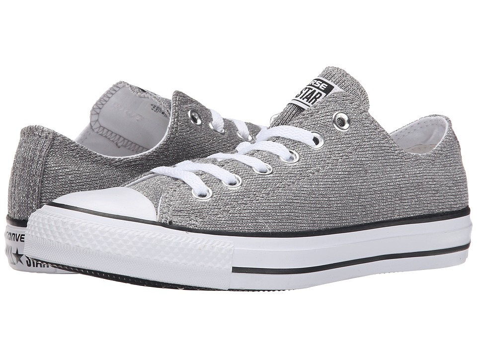 Converse - Chuck Taylor All Star Sparkle Knit Ox (Silver/White/Black) Women's Classic Shoes