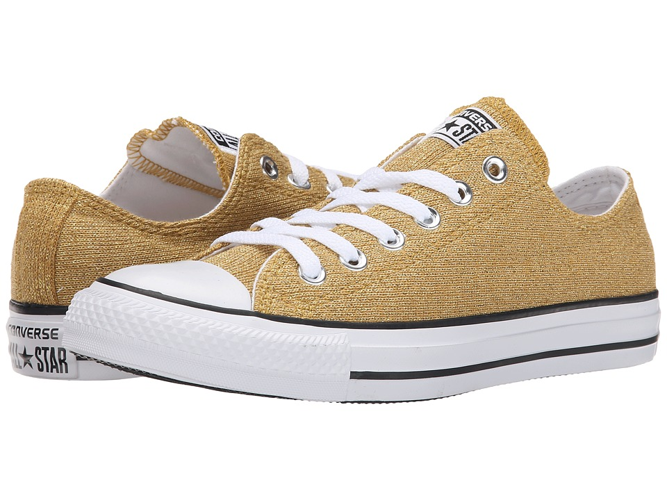 Converse - Chuck Taylor All Star Sparkle Knit Ox (Gold/White/Black) Women