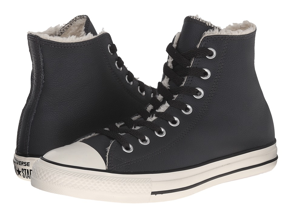 Converse - Chuck Taylor All Star Hi Leather/Shearling (Storm Wind/Natural/Egret) Classic Shoes