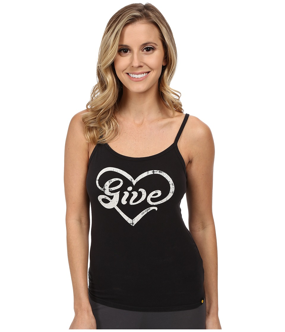 Life is good - Sleep Cami (Night Black) Women's Sleeveless