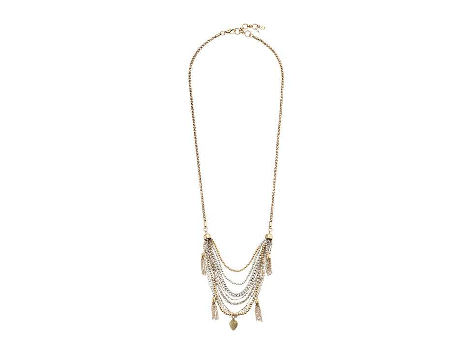 Lucky Brand - Two-Tone Tassle Necklace (Two-Tone) Necklace