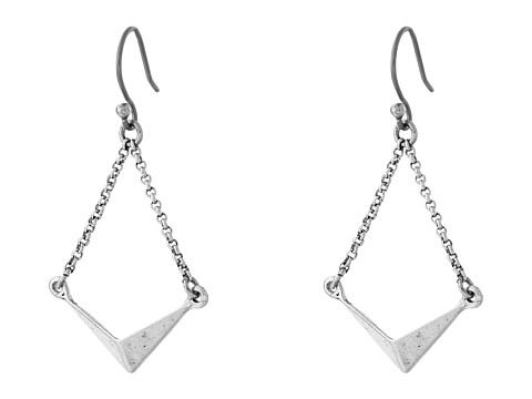Lucky Brand - Silver Triangle Drop Earrings (Silver) Earring
