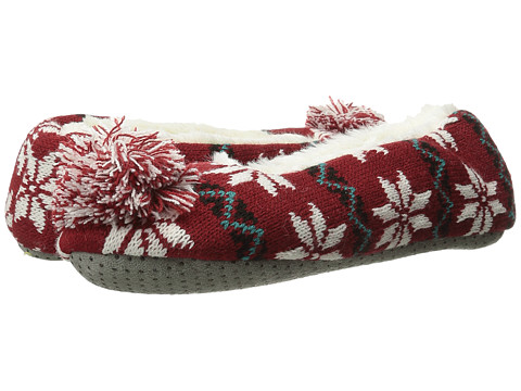 Life is good - Ballet Slipper (Rich Red) Women's Slippers