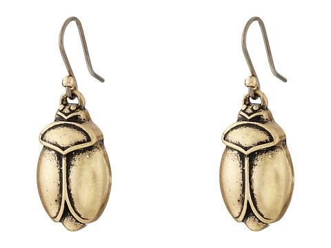 Lucky Brand - Scarab Gold Drop Earrings (Gold) Earring