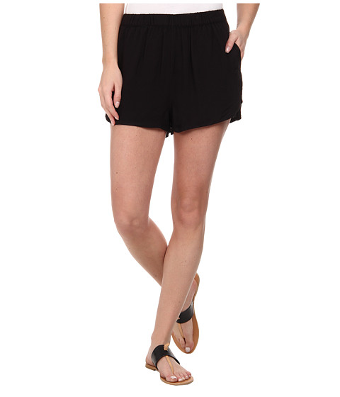 Hurley - Beachrider Highwaisted Woven Walkshorts (Black) Women's Shorts