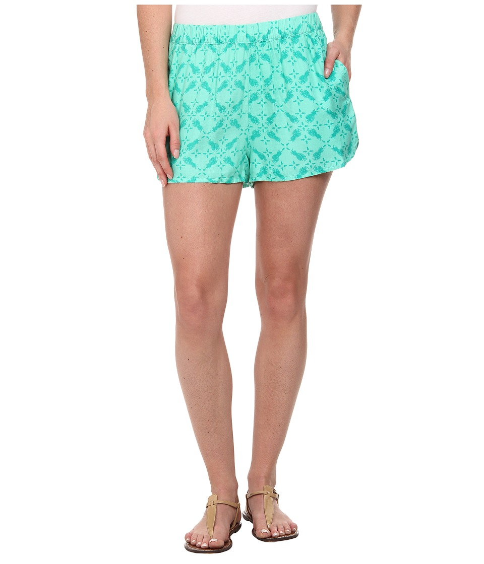 Hurley - Beachrider Highwaisted Woven Walkshorts (Menta Pineapple) Women