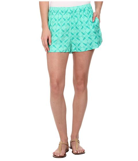 Hurley - Beachrider Highwaisted Woven Walkshorts (Menta Pineapple) Women
