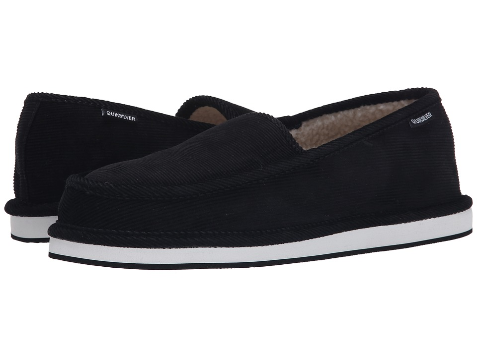 Quiksilver - Surf Check '15 (Black/Black/White) Men's Slip on Shoes