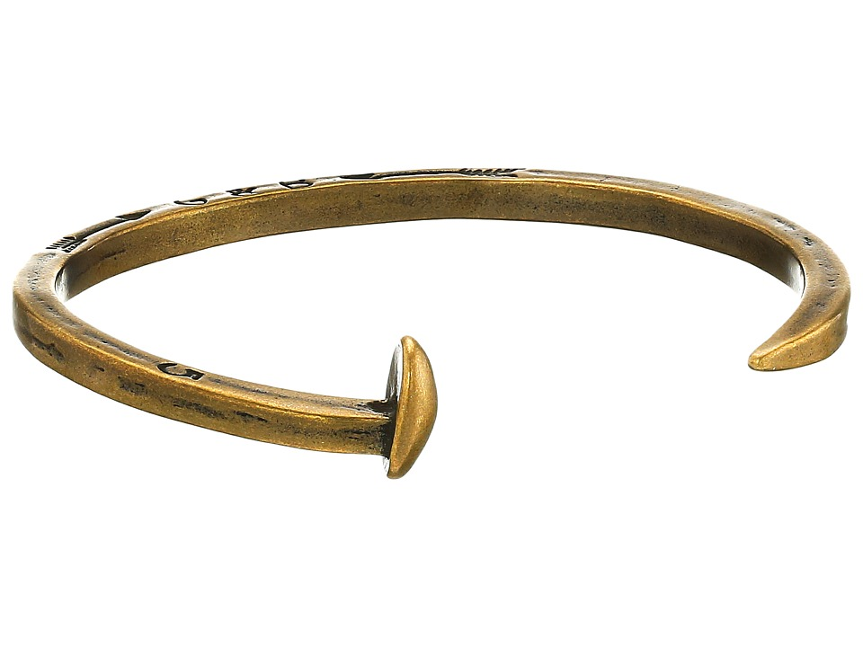 Giles & Brother - The Original Skinny Railroad Spike Cuff (Classic Brass) Bracelet