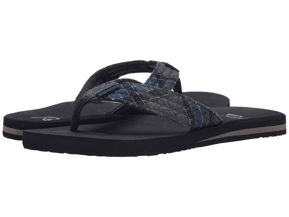 Quiksilver - Carver Textile (Grey/Blue/Black) Men's Sandals