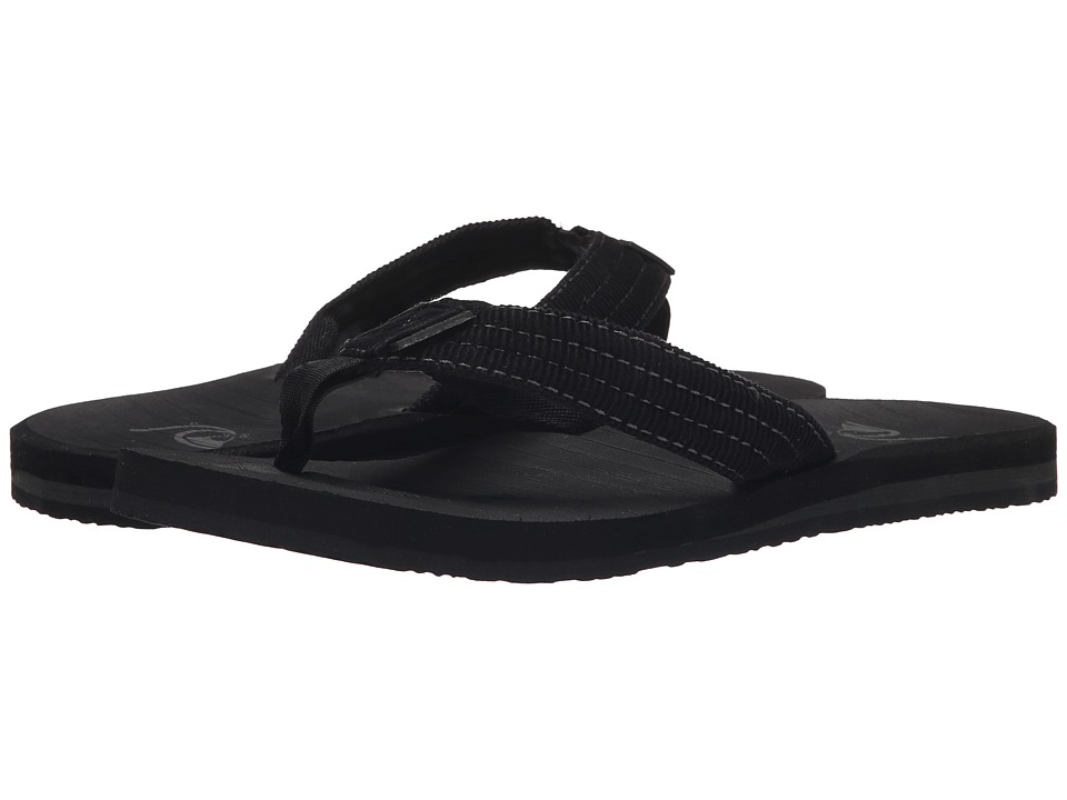 Quiksilver - Carver Textile (Solid Black) Men's Sandals