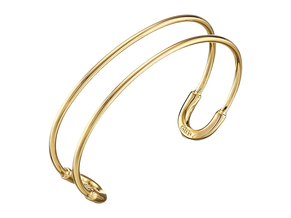 Giles & Brother - Tiny Cortina Cuff (Gold Finished Brass) Bracelet