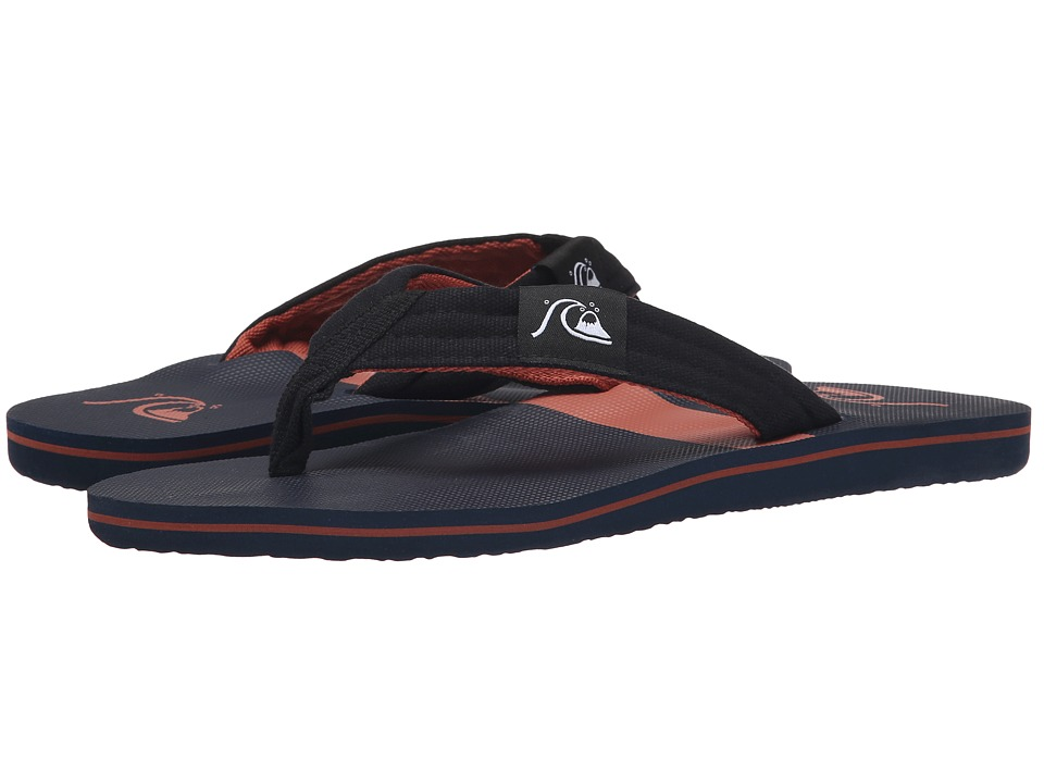 Quiksilver - Molokai Layback (Black/Blue/Red) Men's Sandals
