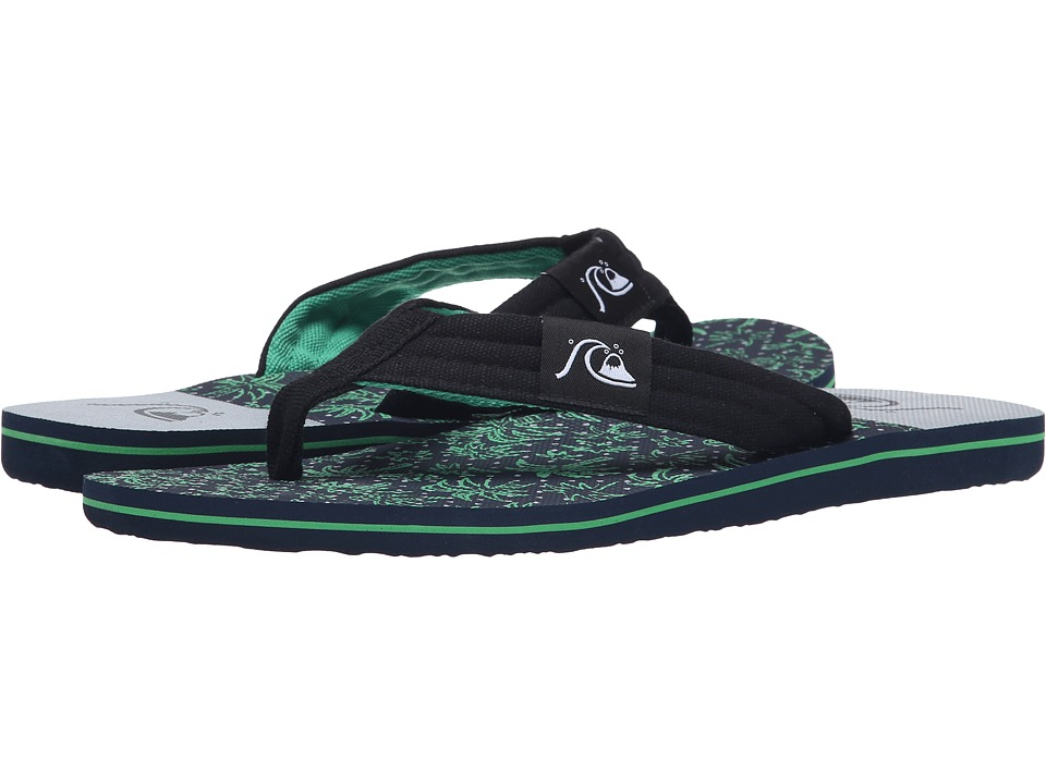 Quiksilver - Molokai Layback (Black/Blue/Grey) Men's Sandals