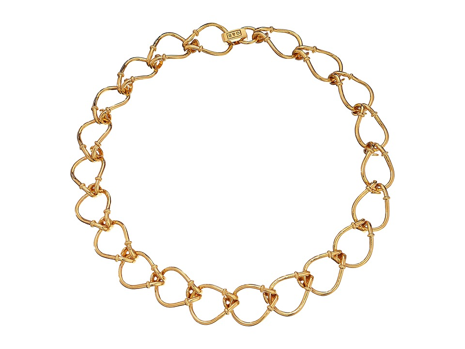 Giles & Brother - Small Cortina Loop Chain Necklace (Gold Plated Brass) Necklace