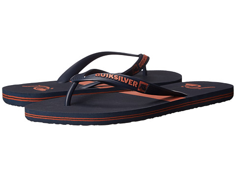Quiksilver - Molokai Stripe (Blue/Red/Blue) Men's Sandals
