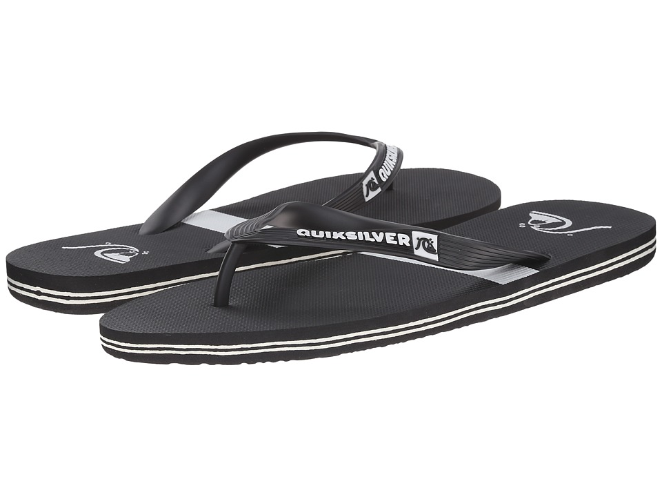 Quiksilver - Molokai Stripe (Black/White/Black) Men's Sandals