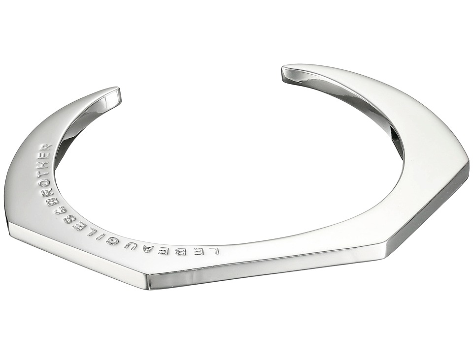 Giles & Brother - Skinny Hex Cuff (Rhodium Plated Brass) Bracelet