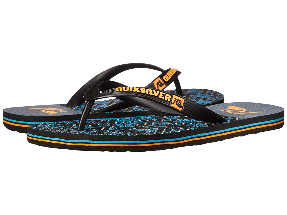 Quiksilver - Molokai Jungle Vision (Black/Orange/Blue) Men's Sandals