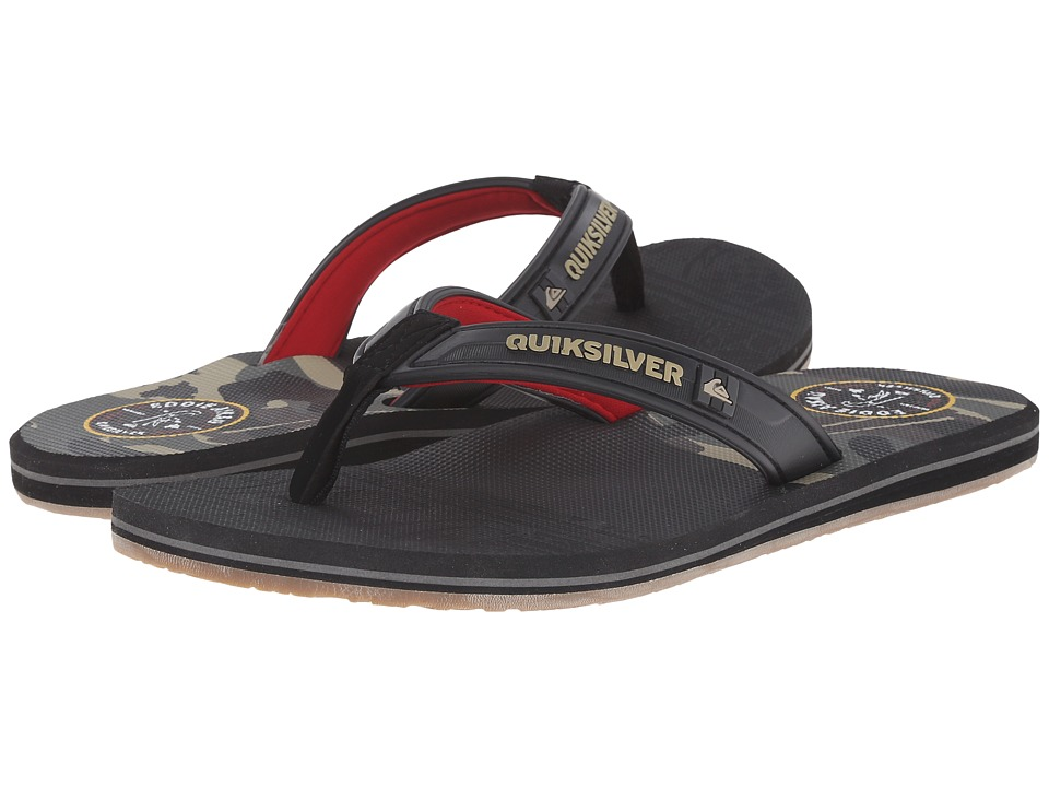 Quiksilver - Eclipse Eddie (Black/Red/Grey) Men's Sandals