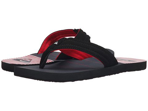 Quiksilver - Basis (Black/Red/White) Men's Sandals