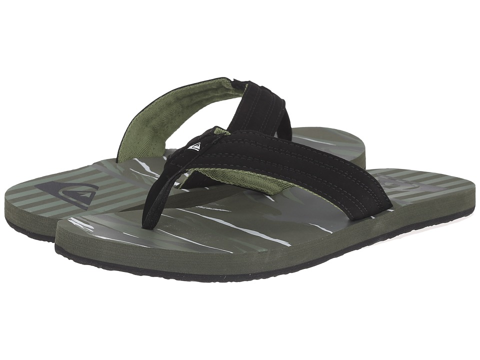 Quiksilver - Basis (Black/Green/Black) Men's Sandals