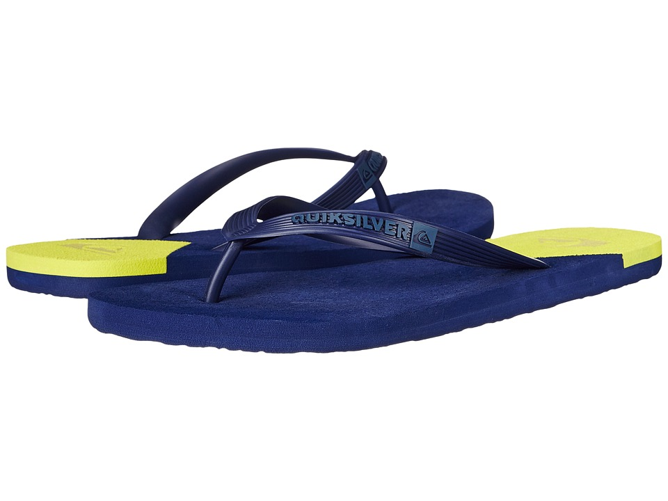 Quiksilver - Molokai New Wave (Blue/Yellow/Blue) Men's Sandals