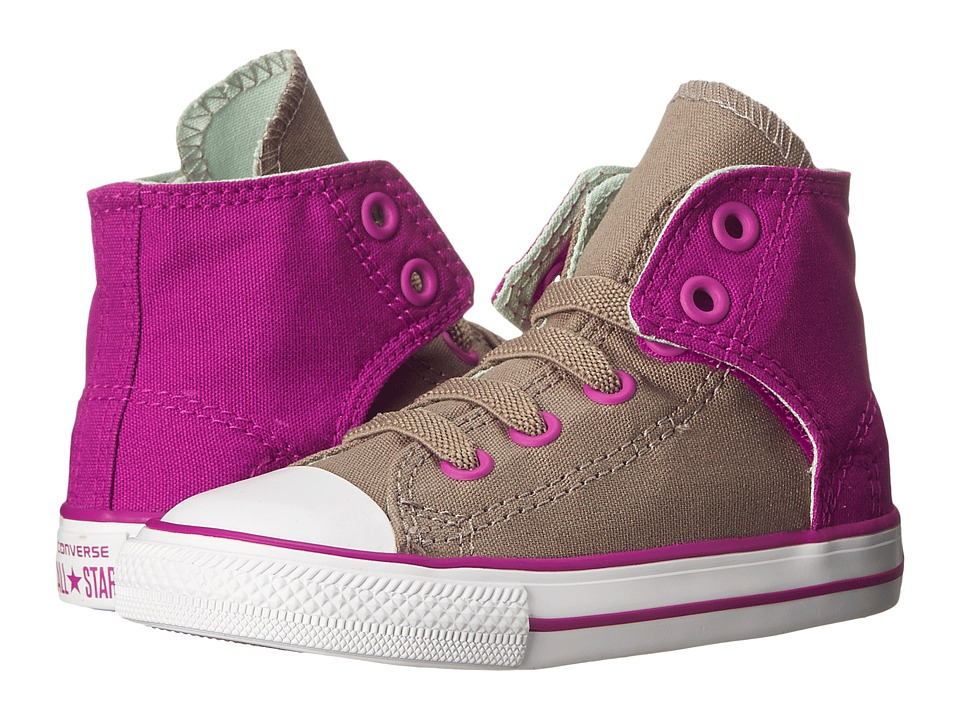 Converse Kids - Chuck Taylor All Star Easy Hi (Infant/Toddler) (Malt/Pink Sapphire/Mint Julep) Girls Shoes