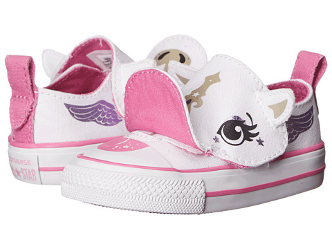 Converse Kids - Chuck Taylor All Star Creatures - Pegasus/Unicorn (Infant/Toddler) (White/Dahlia Pink/Papyrus) Girls Shoes