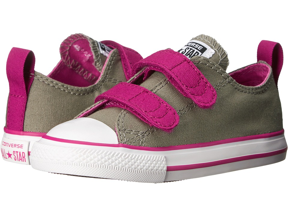 Converse Kids - Chuck Taylor All Star 2V (Infant/Toddler) (Malt/Pink Sapphire/Dahlia) Girls Shoes
