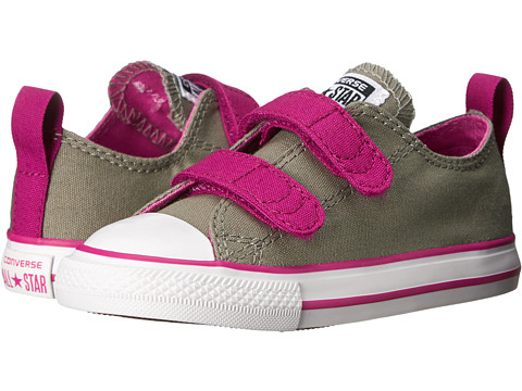 Converse Kids - Chuck Taylor All Star 2V (Infant/Toddler) (Malt/Pink Sapphire/Dahlia) Girls Shoes