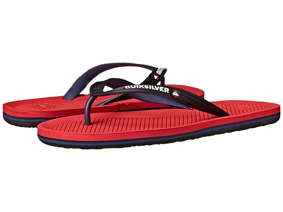 Quiksilver - Haleiwa (Black/Red/Black) Men's Sandals