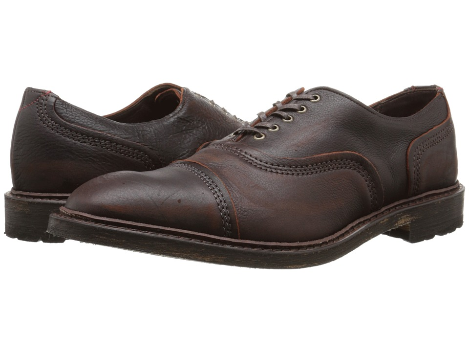 Allen-Edmonds - Overlord (Brown) Men's Lace Up Cap Toe Shoes