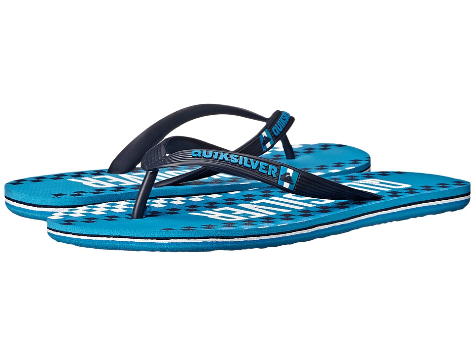 Quiksilver - Molokai Wordmark '15 (Black/White/Blue) Men's Sandals