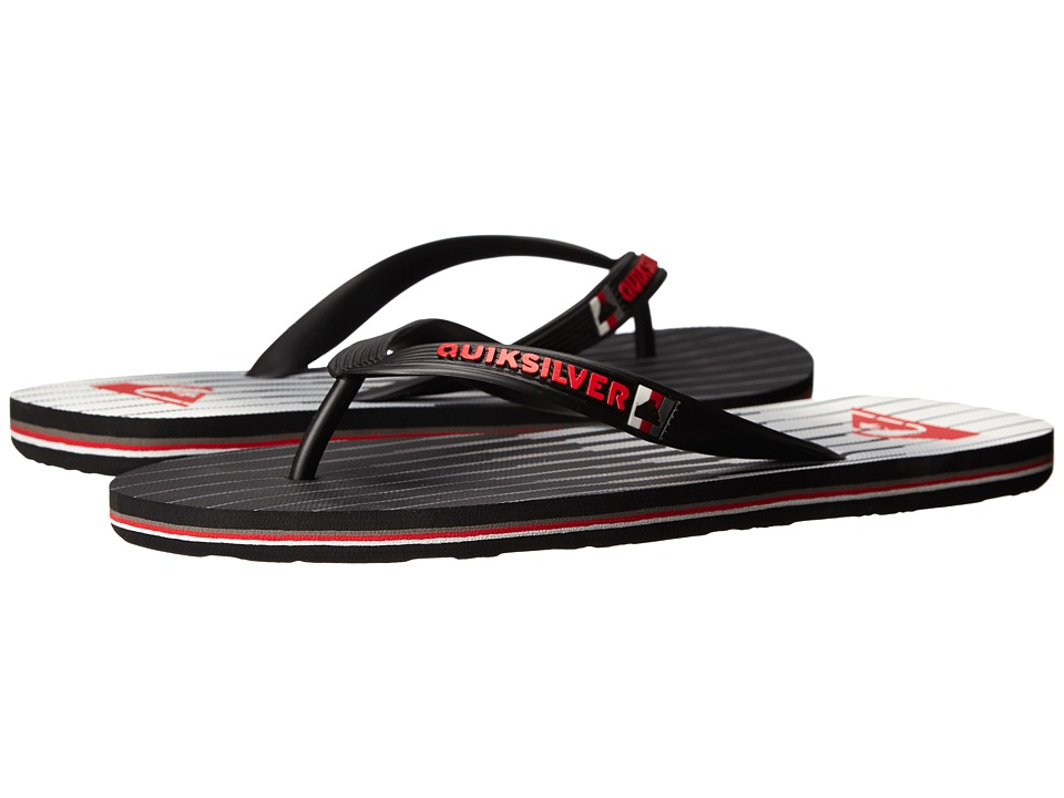 Quiksilver - Molokai Equalizer (Black/White/Red) Men