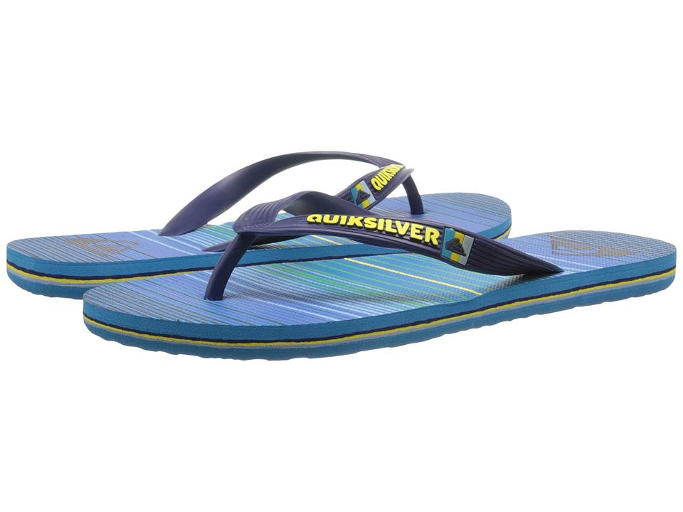 Quiksilver - Molokai Vibe Tribe (Black/Blue/Green) Men's Sandals