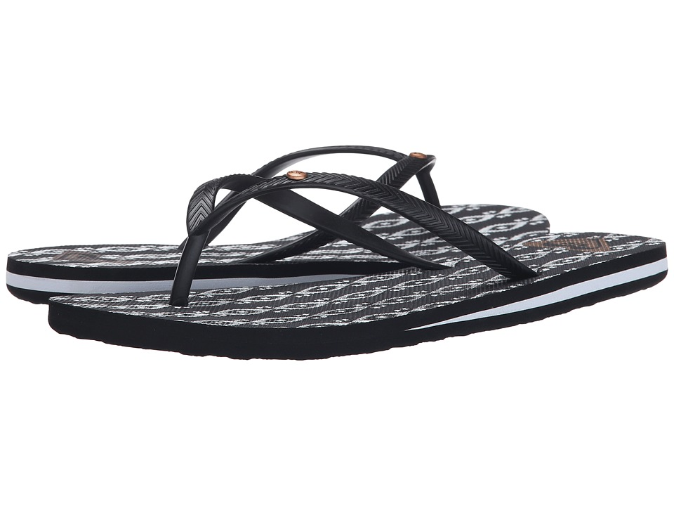 Roxy - Bermuda (Black/White Fade) Women's Sandals