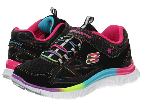 SKECHERS KIDS - Skech Appeal - Align II (Little Kid/Big Kid) (Black/Multi) Girls Shoes