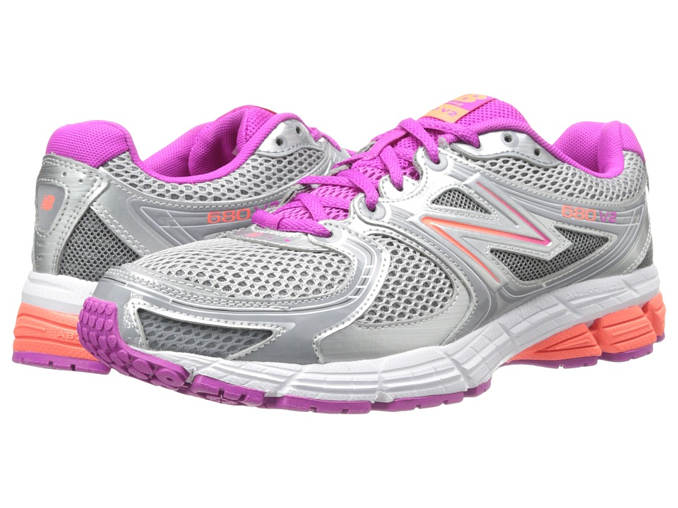 New Balance - W680FP2 (Silver/Purple) Women's Shoes