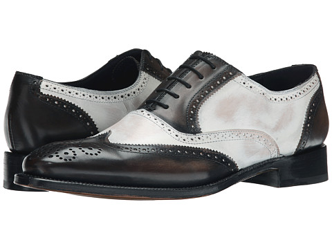 Messico - Vito Welt (Grey/White Leather) Men's Flat Shoes