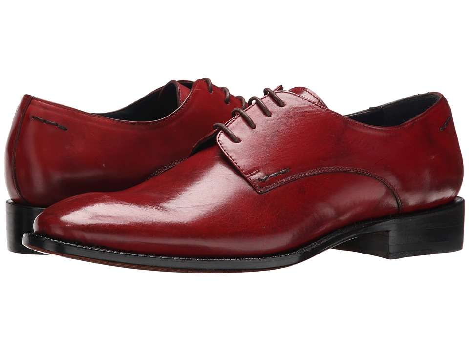 Messico - Simon Welt (Red Ferrari Leather) Men's Flat Shoes