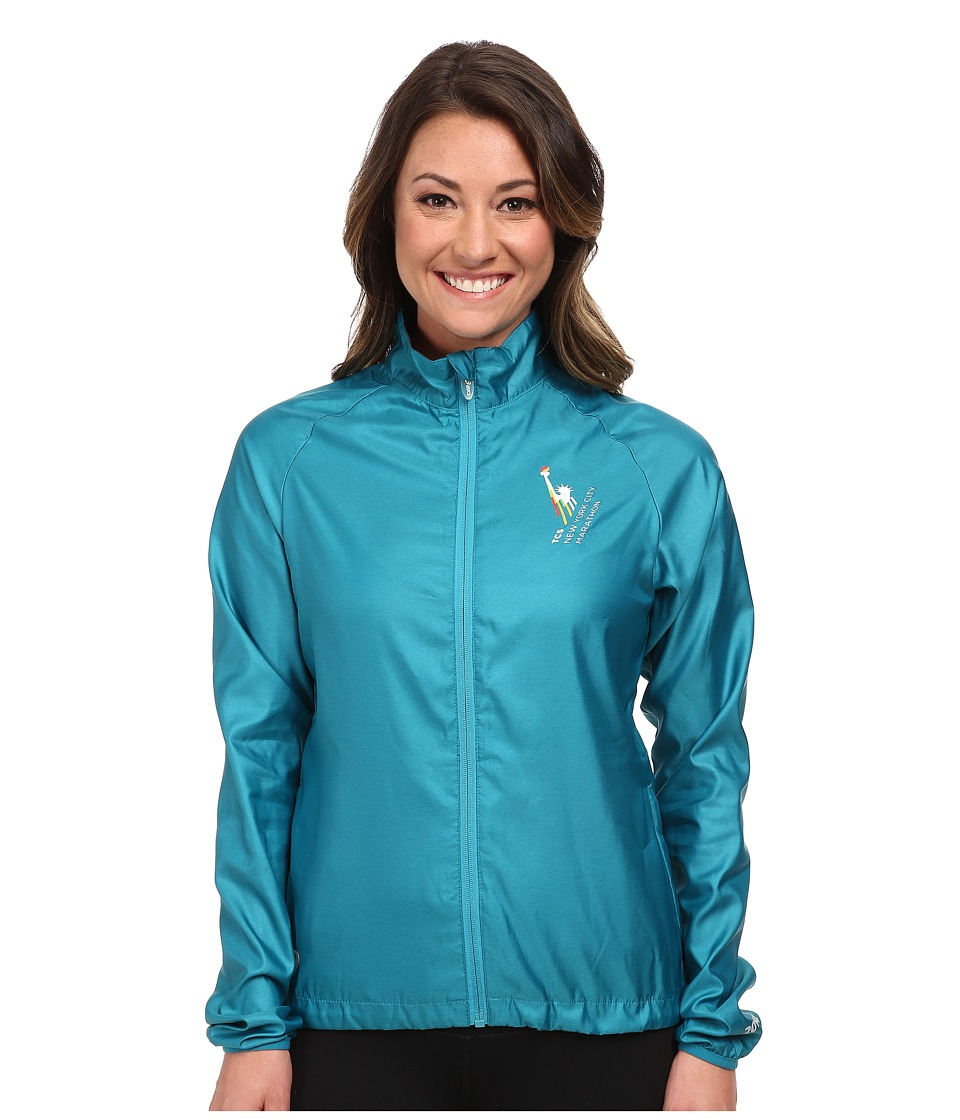 ASICS - NYC Marathon Electro Jacket (Bondi Blue Heather) Women's Coat