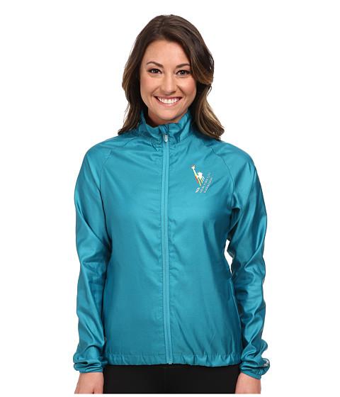 ASICS - NYC Marathon Electro Jacket (Bondi Blue Heather) Women
