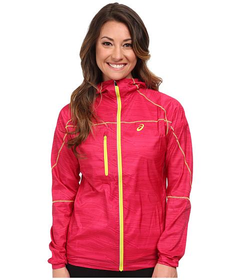 ASICS - Fuji Packable Jacket (Magenta Wood Print) Women's Coat