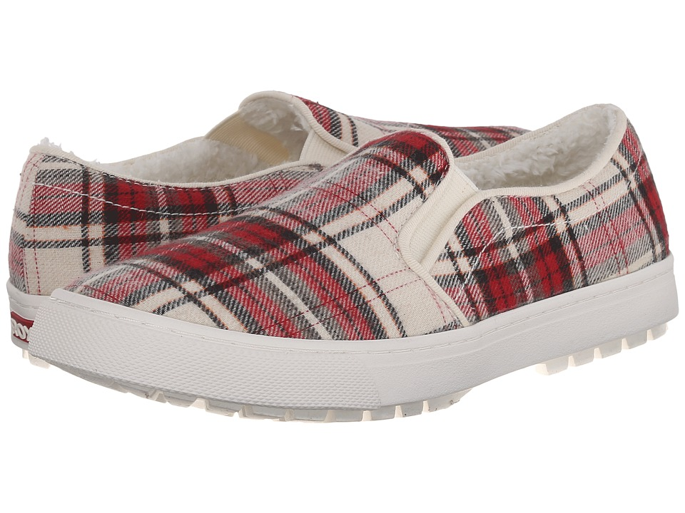 Roxy - Juno Fur (Red) Women's Slip on Shoes